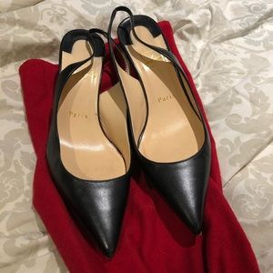 Christian Louboutin Clare Leather Spingbacks